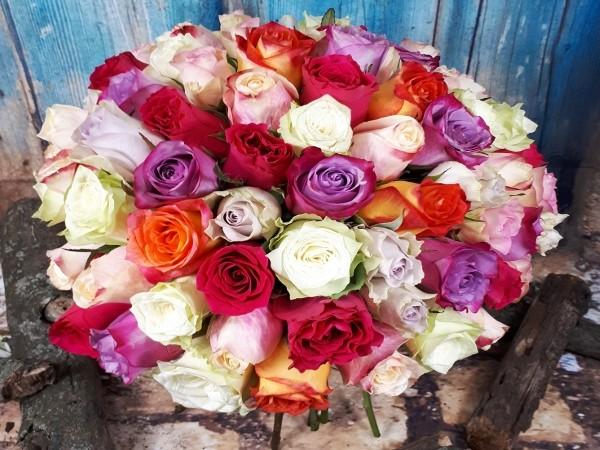 75 trandafiri mixt